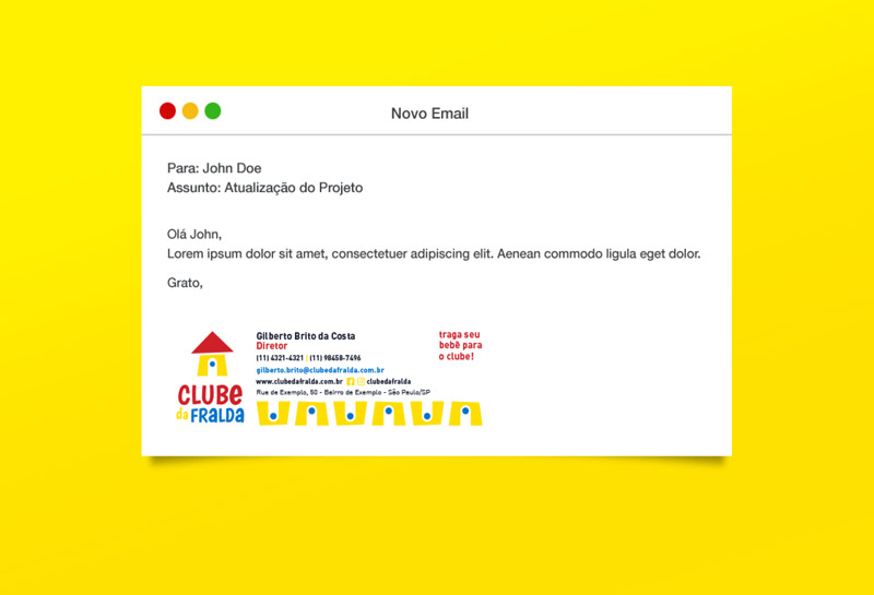 Assinatura de E-mail - Clube da Fralda