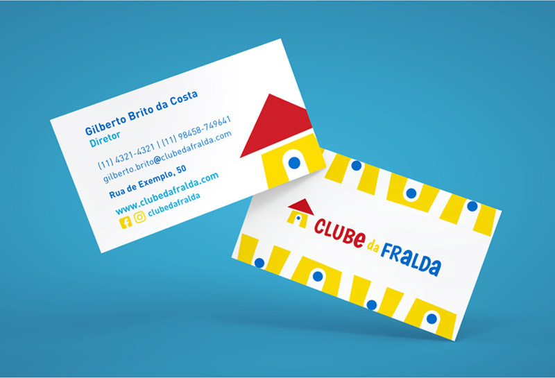 Cartão de Visitas - Clube da Fralda