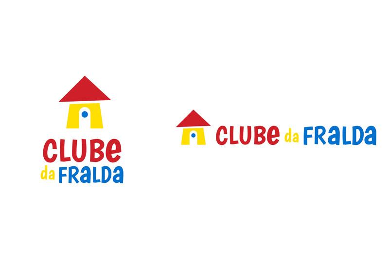 Logos Vertical e Horizontal - Clube da Fralda