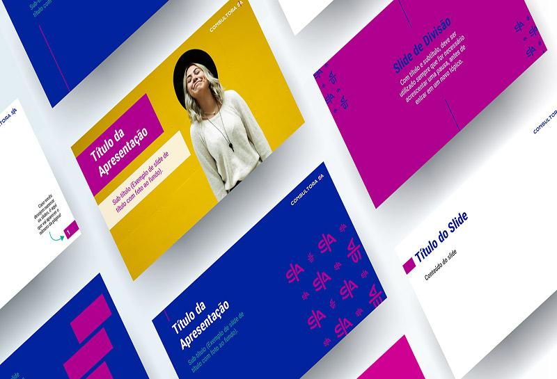 Template para Apresentação PowerPoint - Consultora S A 2
