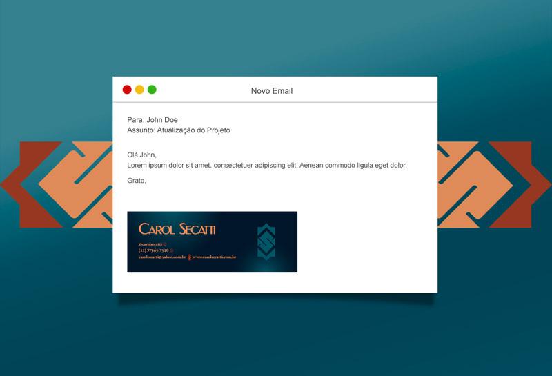 Assinatura de E-mail - Carol Secatti