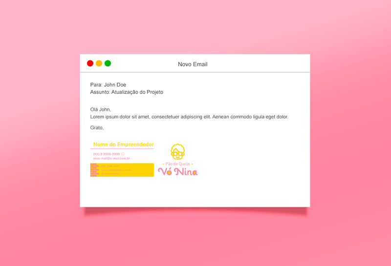 Assinatura de E-mail - Vó Nina Pão de Queijo