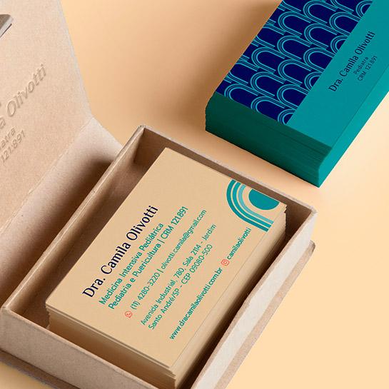 Cartão de Visitas - Dra Camila Olivotti - Miniatura