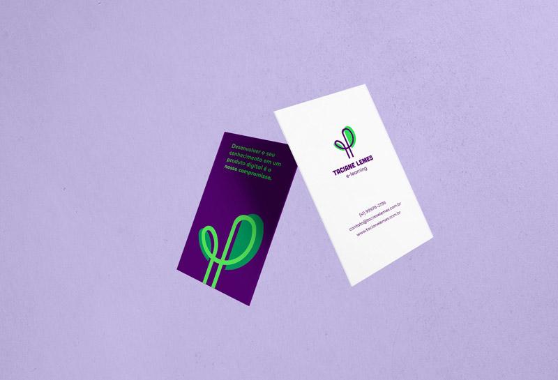 Cartão de Visitas - Taciane Lemes e-learning 1