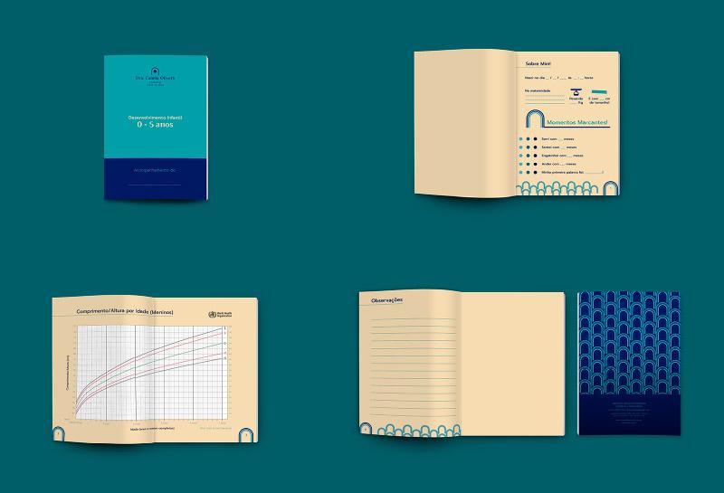 Caderneta de Desenvolvimento Infantil Meninos - Dra Camila Olivotti