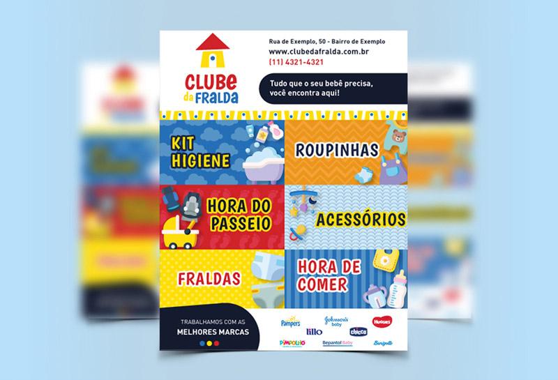 Flyer - Clube da Fralda