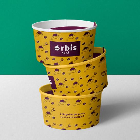 Embalagem Pote de Açaí - Órbis Açaí - Miniatura