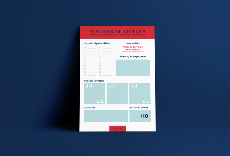 Planner de Leitura - Litterae
