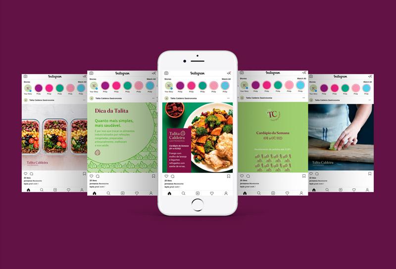 Templates para Posts de Feed do Instagram - Talita Caldeira Gastronomia 2