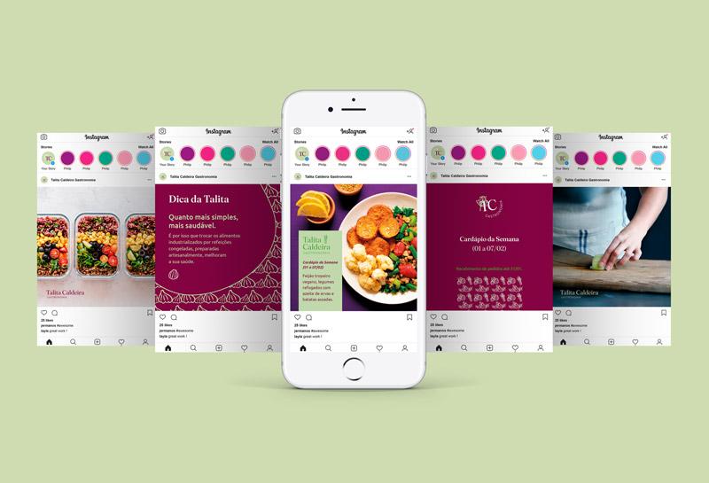 Templates para Posts de Feed do Instagram - Talita Caldeira Gastronomia