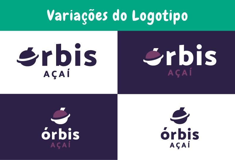 Variações do Logo - Órbis Açaí