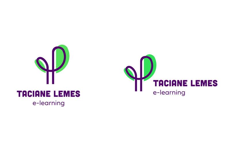 Variações do Logo - Taciane Lemes e-learning 1