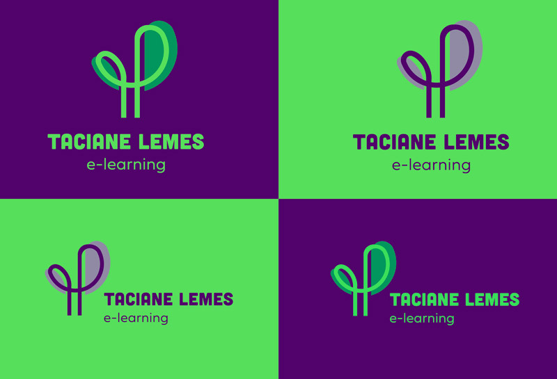 Variações do Logo - Taciane Lemes e-learning 2